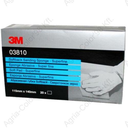 3M 3810 superfine 115x140mm csiszoló szivacs