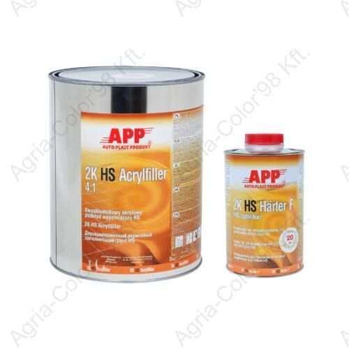 APP 2K Acryl füller fekete + edző 4:1 1L + 0,25 L